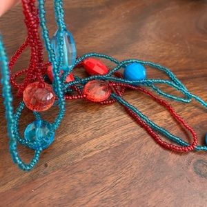 Jewelry - Two long beaded necklaces